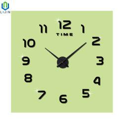 Orologio semplice europeo acrilico creativo dell'autoadesivo della parete di Digitahi dell'orologio di parete del salone DIY
