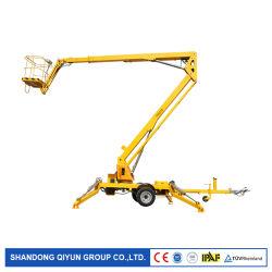 Qiyun CE ISO 8 m 10 m 12 m 14 m 16 m per esterni Sollevamento del braccio articolato montato su rimorchio idraulico con crociera aerea Piattaforma di sollevamento in funzione