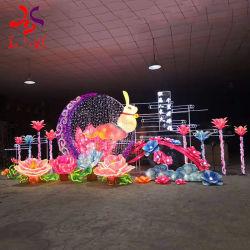 휴일 점화를 위한 중국 전통적인 새해 달과 토끼 모양 중앙 가을 축제 손전등