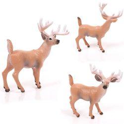 Customized 3D Impresso Figura Animal plástico brinquedos de PVC de veado sika
