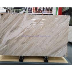 Beige/Weiß/Gold/goldene/graue Marmorsteinfliesen/Platten für Eitelkeits-Oberseite/Countertops/Fußboden/Wand/Mosaik