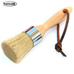 Runder Lack-Pinsel mit Buche Woodenhandle dem reinen Borste-Haar