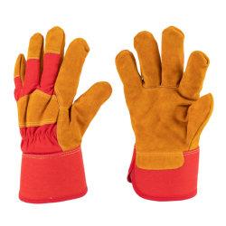 革靴の冬3082の十分にアクリルのウールのライニングが付いている革保護安全手袋。 Al
