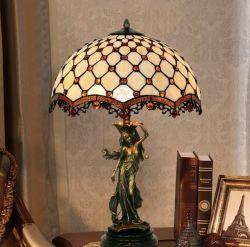 16 pollici Rosa San tutto rame Antique Collection Art retro Camera da letto soggiorno Tiffany tavolo lampada