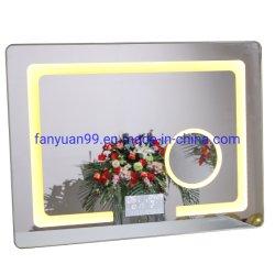 Specchio impermeabile astuto decorativo dell'hotel LED con la visualizzazione di tempo e Bluetooth con la fabbricazione del cinese del sensore di tocco del rilievo