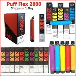Newest 13 saveurs de bouffée de cigarette électronique Bar Wolesale Flex 2800 Vape stylo jetable