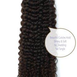 9A Kinky Afro peluca rizada Hair Extension 3 Bundles o 4 paquetes de Malasia indio brasileño humano 100% virgen pelucas Cabello Color Natural 8-28pulg.
