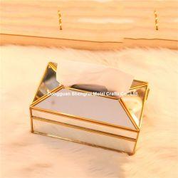 ヨーロッパ式のナプキンのホールダーの金属ミラーのティッシュボックス