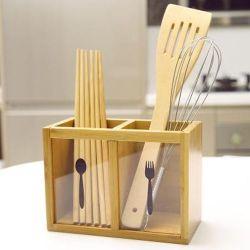 Comptoir de cuisine de l'Organiseur de bambou naturel l'ustensile de stockage de la papeterie de bureau à domicile Desk Caddy accessoire de table salle de séjour