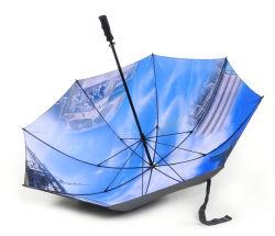 """Sunfoo 30"""" Manual de camada dupla de Impressão Fotográfica Impressão a Cores Golf Umbrella"""