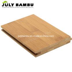 Horizontaler 14mm Bambusbodenbelag karbonisierte Farben-lamellenförmig angeordneten Bambusfußboden für Innen