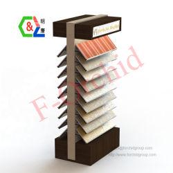 Созданный ящик с деревянным полом для установки в стойку образец керамические плитки подставка для дисплея