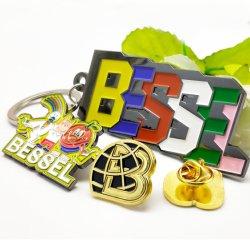 China Maker fornece alta qualidade Dom promocionais emblema esmalte macio Chaveiro Empresa Moda Loja Badge com qualquer desenho