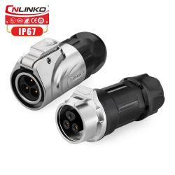 Cnlinko M16 3 Pin-Zink-Verbündet-Gehäuse-Draht-Verbinder für Automatisierungs-Maschine