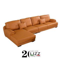 أثاث منزلى حديث شهير مصنوع من خشب منزلى ليجر وأريكة جلدية مقطعية