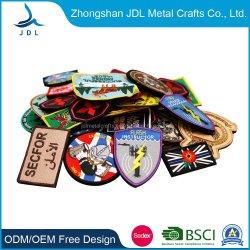 China Wholesale Custom 3D de fondo de sarga Policía Militar de la Escuela del Ejército de impresión/Bandera Insignia del bordado y tejido/emblema/Bordado parches para Amazon Ebay DIY Prendas de Vestir