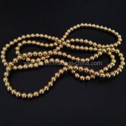 보석을%s 금에 의하여 도금되는 자연적인 적철광 둥근 원석 구슬