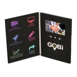 4.3 pulgadas LCD, reproductor de vídeo Folleto Invitación de negocios