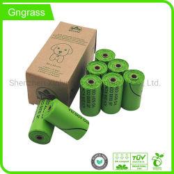 Kompostierbarer kundenspezifischer Leck-Beweis-Geruch Eco freundlicher biodegradierbarer Hundepoop-Beutel