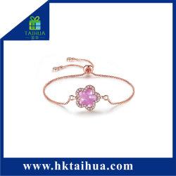 Design atraente Zircon Mão Ajustável bracelete de corrente para senhora