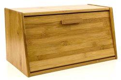Caja de pan de almacenamiento de repostería orgánica de la tapa de madera de bambú elegante, ligero y robusto contenedor de almacenamiento de alimentos nuevo BB-7015