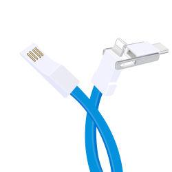 De alta calidad de la fábrica de cable micro USB cargador 2 en 1 3en1 Carga Cabel de imán para el cargador para iPhone