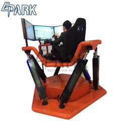 2018 simulador de corridas de velocidade para venda 6 DOF 360 Grau 3 de Alta Velocidade Carro Vr de tela
