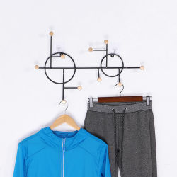 Porche nórdicos hierro gancho de pared creativo Arte Hall capa metálica para rack de montaje en pared Gancho para ropa