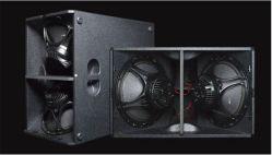 Doble sistema de altavoces de audio profesional, de 15 pulgadas de 1000W el altavoz subwoofer en línea
