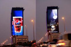Гибкая P4 изогнутая светодиодный экран рекламы с 140 градусов угла просмотра