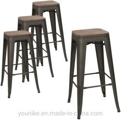 """30"""" de la barra de interiores y exteriores Vintage Silla Tolix taburete silla asiento de madera metal"""
