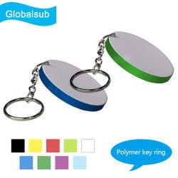 Round/ovales/Rectangle/coeur polymère pour sublimation de clés