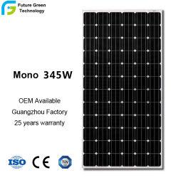 Un grade qualifiés 345W haute efficacité Fabricant de panneaux solaires monocristallins photovoltaïque