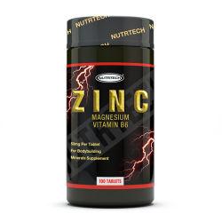 O desporto suplemento nutricional de cálcio e magnésio Zinco vitamina B6 Tablet com rótulo privado