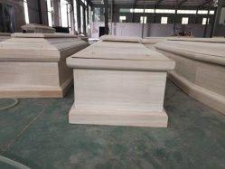 Estilo europeu caixão de madeira com pintura de Embalagem de Papelão
