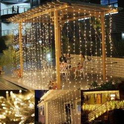 Rideau de fenêtre LED Icicle String de lumière pour Noël/Halloween/mariage/Parti
