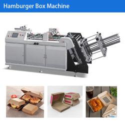 Papel automático Burger Box / Caixa de papel caixa alimentar fazendo a máquina