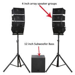 """Le subwoofer 12"""" Bass pro audio hi-fi haut-parleur professionnel Bluetooth"""