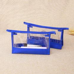 Portable sac en plastique transparent de maquillage en PVC avec reliure non tissés