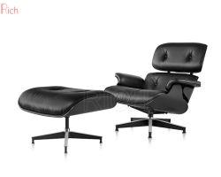 Comercio al por mayor negro PU sofá de cuero auténtico silla giratoria Lounge Charles sillón de oficina