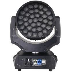 Fase de LED Light 37*10W RGBW Lavagem de movimentação de Zoom para iluminação de discoteca