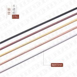 Корпус из нержавеющей стали с плоским экраном нажмите кабель с высокой плотностью Змейка цепочка украшения цепи