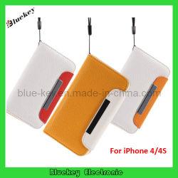 iPhone 4 4s용 자성 플립 가죽 커버 케이스(BK-M406)