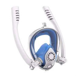 La máscara de buceo apnea natación 180 grados de anti vaho del aliento de buceo actualizado toda la cara de plegado de la máscara de buceo con snorkel doble
