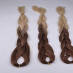 """1 pieza de 24"""" Ombre Kanekalon trenzar el cabello Dos Tonos de Kanekalon Jumbo trenzar el cabello Afro Kinky trenzas extensiones de cabello sintético trenzado"""