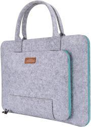 도매 사용자 지정 100% 펠트 그레이 라이트 블루 사용자 지정 컬러 컴퓨터 노트북 핸드백 다양한 크기