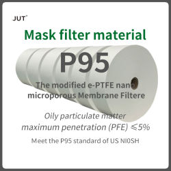 Matériau du filtre P95 E-filtre en PTFE nano matériaux FFP2, FFP1 Les masques FFP3 peut être personnalisé Non-Melt-chiffon grillé