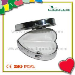 中心の形のポケット金属の丸薬ボックス