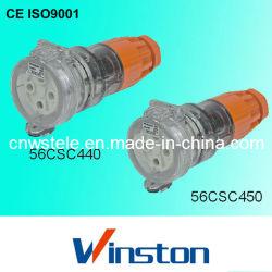 Waterdichte driefasen 4 ronde pin uitbreidingsaansluiting met CE