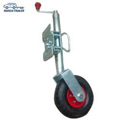 2000lbs het Wiel van de Jockey van Jack van de aanhangwagen (10 duim stevig rubberwiel)